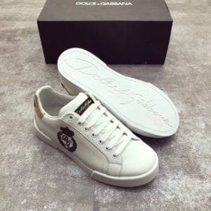 Calfskin Nappa Portofino Sneaker with Patch - DLGB1001-2