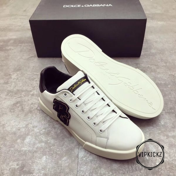Calfskin Nappa Portofino Sneaker with Patch - DLGB1002-1