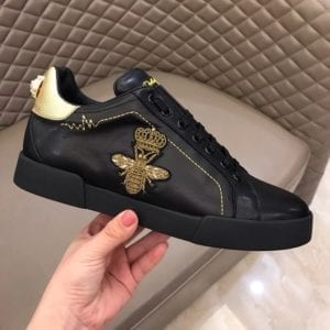 Calfskin Nappa Portofino Sneaker with Patch - DLGB1005-1