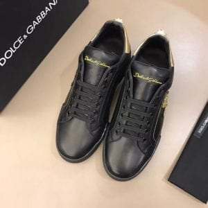Calfskin Nappa Portofino Sneaker with Patch - DLGB1005-2
