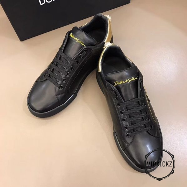Calfskin Nappa Portofino Sneaker with Patch - DLGB1005-3