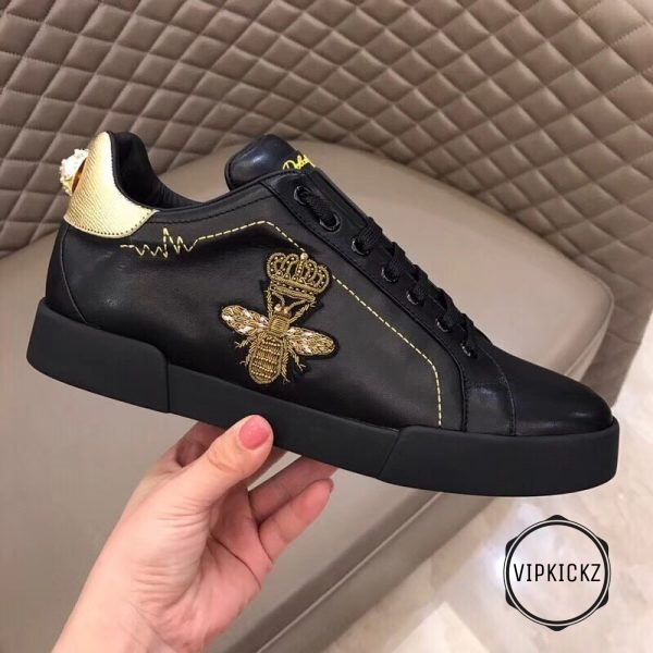 Calfskin Nappa Portofino Sneaker with Patch - DLGB1010-1