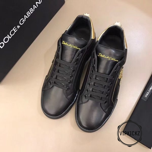 Calfskin Nappa Portofino Sneaker with Patch - DLGB1010-2