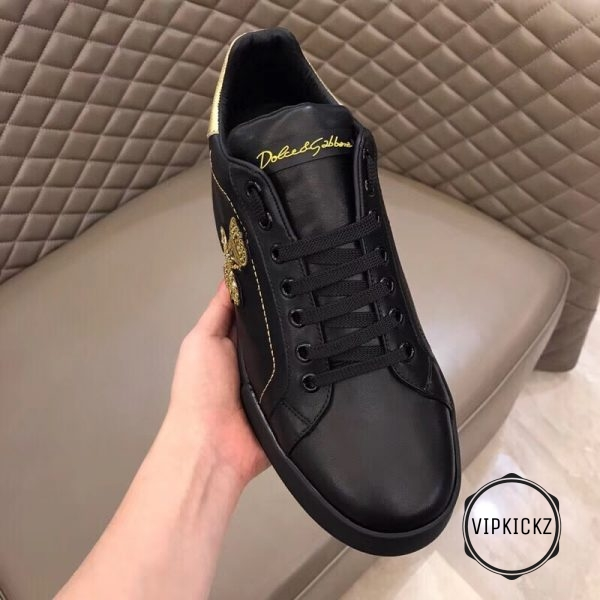 Calfskin Nappa Portofino Sneaker with Patch - DLGB1010-4