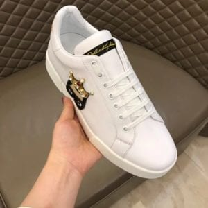Calfskin Nappa Portofino Sneaker with Patch - DLGB1012-2
