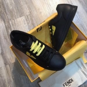 Fendi Black Yellow Sneaker - FEND1001-1
