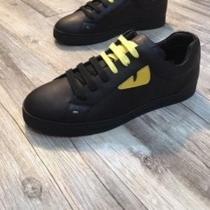 Fendi Black Yellow Sneaker - FEND1001-2