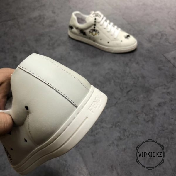 Fendi White With Patch Sneaker - FEND1007-2
