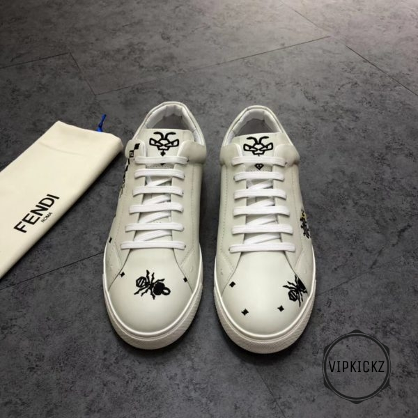 Fendi White With Patch Sneaker - FEND1007-3