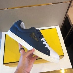 Fendi Blue & White Sneaker - 1010-1